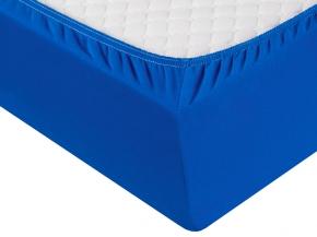 3674-БЧ простыня на резинке бязь 200*160*25 цв. синий