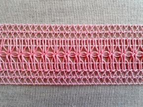 6210 ТЕСЬМА ОТДЕЛОЧЕАЯ розовый 45мм (рул.25м)