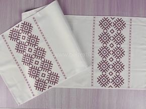 Ш17опс213-2 Скатерть 145*40 Белорусские мотивы цв. коричневый