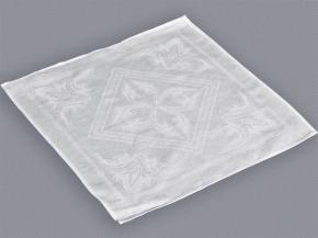 10С210-ШР 50х50  салфетка цв. белый Сатурн