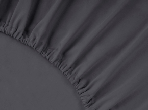 2956-БЧ простыня на резинке 200*140*25 цв. графит
