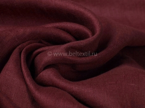 Ткань одежная 186071 лен гл/кр МА Красное вино 6-8, 150см