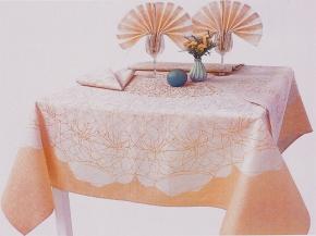 """16с412-ШР/уп Комплект столовый """"Вуаль"""" 150х150 +6 салфеток 48*48 цвет 120 желтый"""