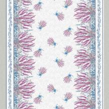 Рогожка набивная арт. 902 МАПС рис. 21077/1 Лаванда, ширина 150 см