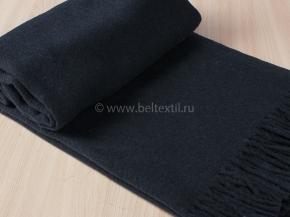 Плед из мериносовой шерсти 140*200 цв.2 темно-синий