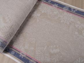 Холст полотенечный арт.17с-12ЯК п/лен пестроткань жаккард рис. С рождеством, 50см