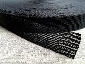 Тесьма вязан.окантовочная 22мм (2,4гр/м), т.серый (рул.100м)