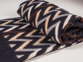 Одеяло п/шерсть 85% 170*205  жаккард  цв 5 корич.