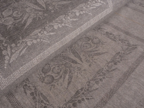"Ткань скатертная арт.1-14 кислованная жаккард ""Ландыш"" салфетка, ширина 150см"