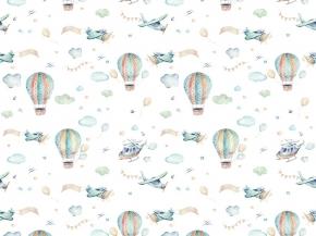 Ткань Муслин набивной арт.700 МА рис.16341/2, 150см