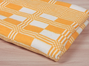 Одеяло байковое 170*205 клетка цв. желтый