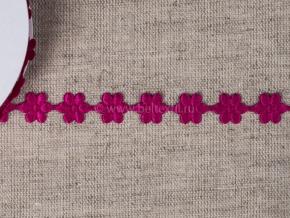 095030077 Лента декоративная шир.12мм, фуксия цветы (уп.25ярдов/22,86м)