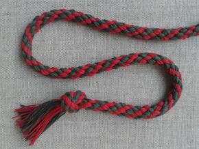 ШХ8-007-6/7 Шнур, D-7мм, х/б 100%, красный/зелёный