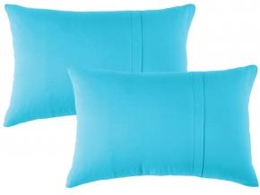 Набор наволочек трикотажных (2 шт.) 50*70 цвет голубой