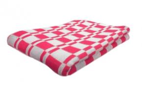 Одеяло хлопковое 170*205 клетка Колосок цветрозовый