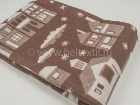 Одеяло хлопковое 170*205 жаккард 8/9, цвет коричневый