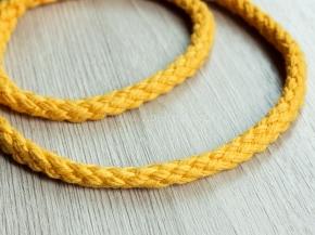 7мм. ШХ8-007-4 Шнур, D-7мм, х/б 100%, жёлтый