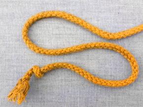 ШХ8-005-4 Шнур, D-5мм, х/б 100%, желтый