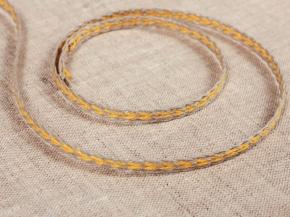 60202 ТЕСЬМА ОТДЕЛОЧНАЯ лен с желтым 6мм (рул.30м)