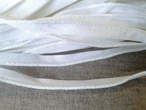 Кант тканый отделочный 12мм/кант 3мм, белый (рул.100м)