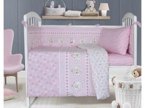 3976 Набор декоративный для детской кроватки Баюшки цвет розовый