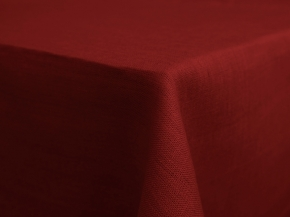17С149-ШР 144*200 Скатерть 100% лен  511  цв.бордо