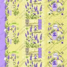 Вафельная -универсал В16 рис. 0836/4 Душа Прованса желтый, ширина 150см