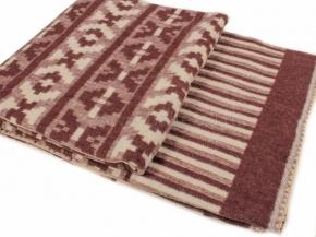 Одеяло п/шерсть 70% 190*205 жаккард цв. коричневый