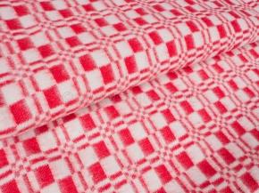 Одеяло хлопковое ОБ-420 100*140 клетка красный