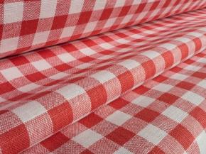 Ткань скатертная 1419ЯК 506099 п/лен пестротканый 4/1 Красный, ширина 150 см