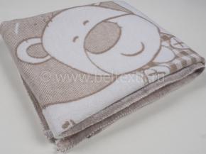 Одеяло хлопковое 100*118 жаккард цвет горчичный