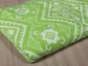 Одеяло байковое 140*205 жаккард цв. салатовый