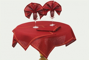 14с122-ШР/уп. Комплект столовый 90*90см + 4салфетки 45*45см цвет 1309 красный