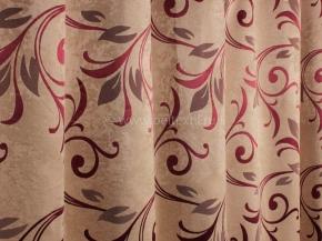 Ткань блэкаут T HY 9535 WZGA-11/280 PJac BL бордо, 280см