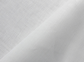 Ткань скатертная арт 0С-54 п/лен рис. Атлас цв. белый Каландр + Аппрет, 150см