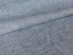 Ткань 1419ЯК 506099 ХМ усадка п/лен пестроткань цв. белый/синий 6,6, 150см