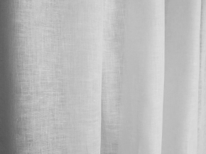 02С34-ШР/пн.+О 101/0 Вуаль декоративная, ширина 160см, лен-58% хлопок-42%