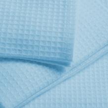 Вафельное полотно гладкокрашеное 170 г/м2 цвет Голубой, ширина 150см