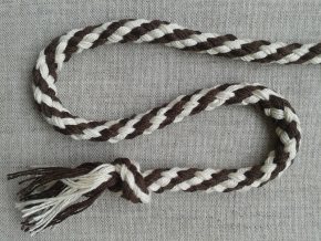 ШХ8-007-1/11 Шнур, D-7мм, х/б 100%, натуральный/коричневый