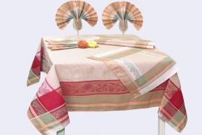 """16с412-ШР/уп. 150х150 Комплект столовый """"Традиция"""" 3 розовый"""
