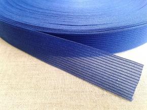 Тесьма вязан.окантовочная 22мм (2,4гр/м), т.васильковый (рул.100м)