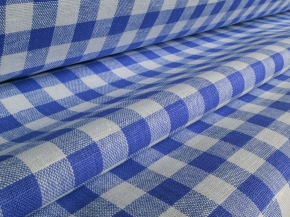 Ткань скатертная 1419ЯК 506099 п/лен пестротканый 4/2 Синий, ширина 150см