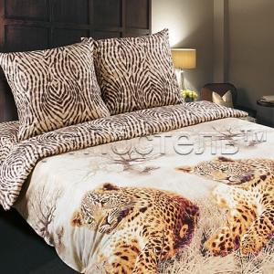 Леопарды основной  рисунок  4608-1 Поплин ширина 220 см