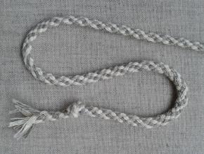 ШХ8-005-1/3 Шнур, D-5мм, х/б 100%, натуральный/серый