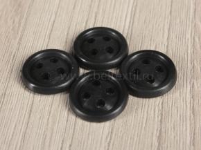 Пуговицы d-14/4 термо-химо-стойкие 160°С, черные (уп.1000шт.)