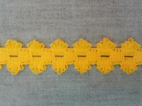 1С6-Г50 ТЕСЬМА ВЯЗ.ОТДЕЛОЧНАЯ желтый 20мм (рул.25м)