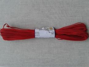 1С14-Г50 ШНУР ОТДЕЛОЧНЫЙ (сутаж) красный*010, d-2.5мм (рул.20м)