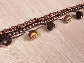 Бахрома Ajur HK B4-54-04 (25m) коричневый/бежевый