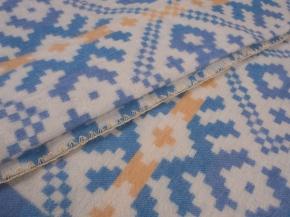 Одеяло п/шерсть 70% 170*205 Жаккард цв. голубой с желтым