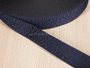19мм. 9587 ЛЕНТА ОТДЕЛОЧНАЯ черное с синим 19мм (рул.25м)